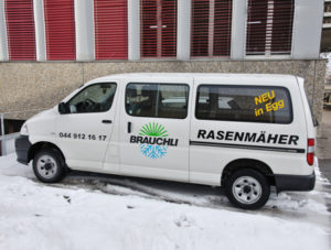 Inhalt Firmenwagen im Schnee